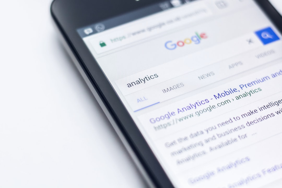 A phone showing analytics search